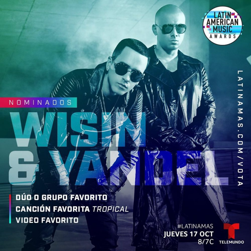 Wisin y Yandel nominados a tres Latin American Music Awards