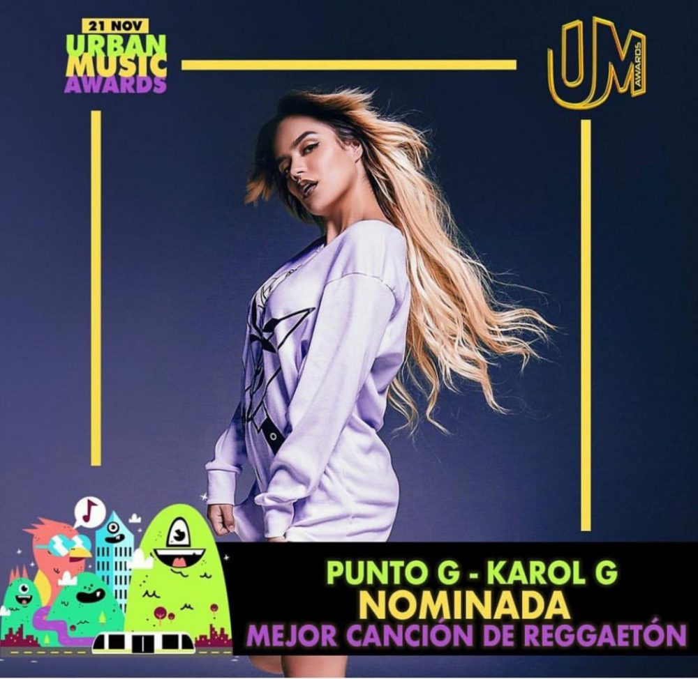 Karol G recibe dos nominaciones a los Urban Music Awards 2019