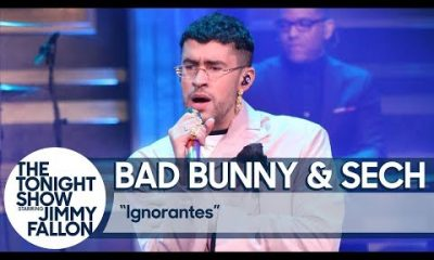 Bad Bunny y Sech Ignorantes Jimmy Kimmel Live 2020 Video