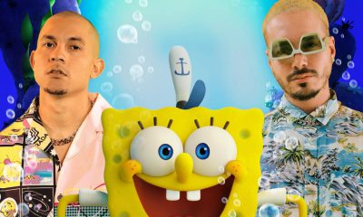 Tainy y J Balvin lanzan Agua del soundtrack de la proxima pelicula animada The SpongeBob Movie scaled