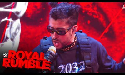 Bad Bunny presenta su nuevo tema Booker T en Royal Rumble 2021 de WWE Video